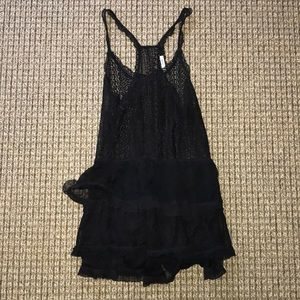 URBAN OUTFITTERS SM BLACK LACE RACERBACK DRESS